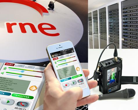 RNE con audio codec Portátil Quantum Lite y software de comunicaciones XF Reporter