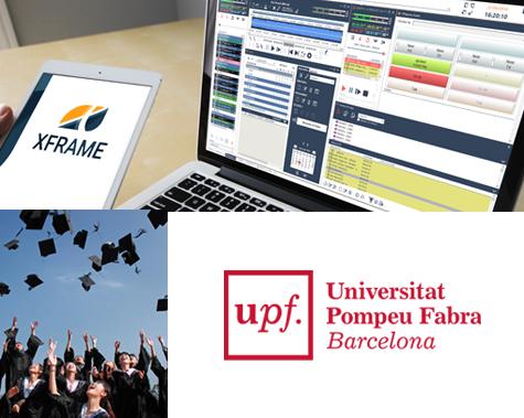 Universitat Pompeu Fabra con XFrame Radio