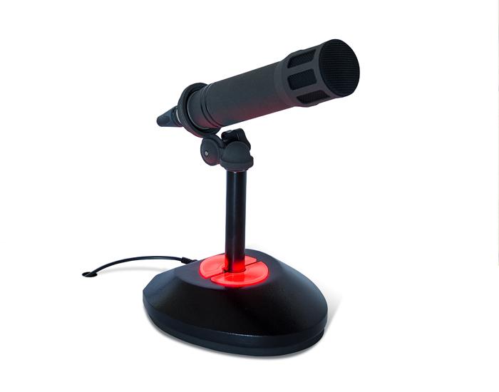 Base de micrófono con iluminación On-Air