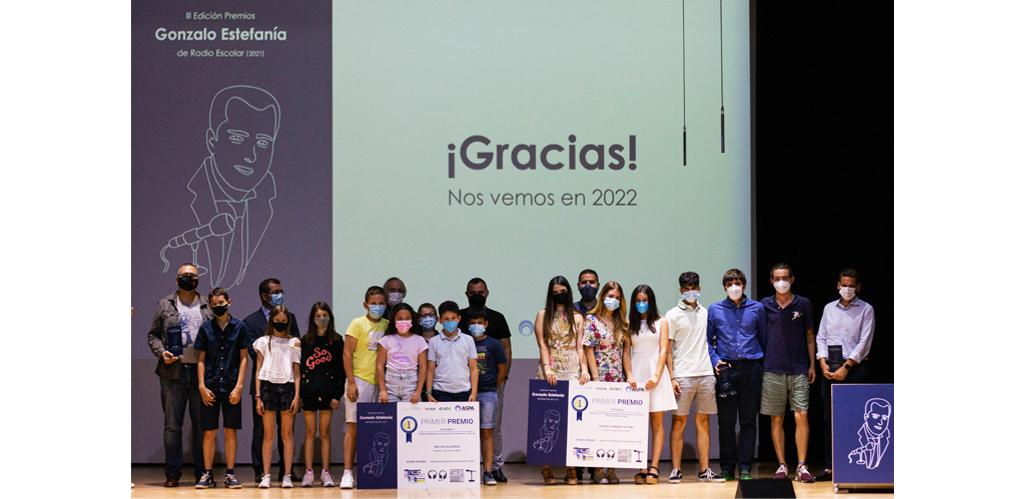 Premiados en la III edición de los Premios Gonzalo Estefanía de Radio Escolar